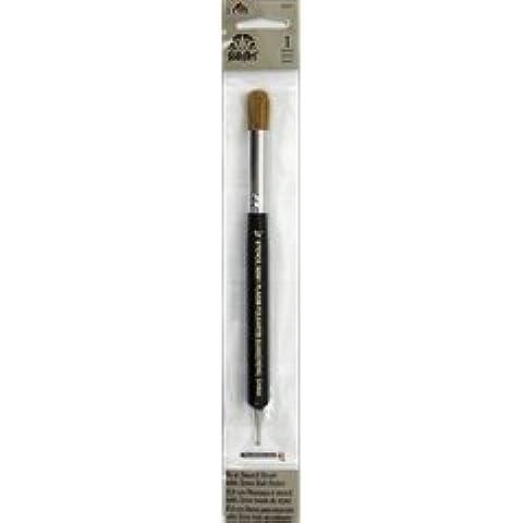 """Plaid-20,32 cm (8"""") Stencil Brush-2/3 mm, a sfera-FRREPOST del Regno Unito su ordini superiori a £20"""