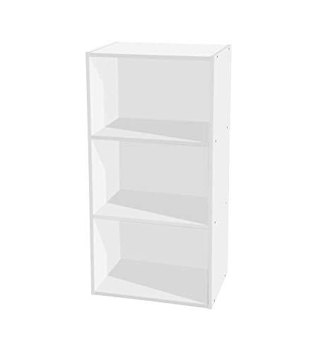 Libreria 3 ripiani 40 x 29 x 80 h cm bianco