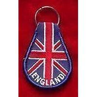 England on the Bandiera Union Jack Ricamato Portachiavi Anello