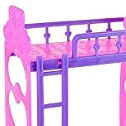Zantec 3.5inch Kunststoff Doppel topaktuelles für Kelly Barbie Puppe Schlafzimmermöbel Zubehör Violett Pink Oder Rosa Gelb Farbe zufällige