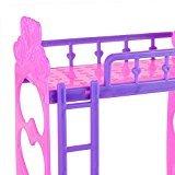 3.5inch Kunststoff Doppel topaktuelles für Kelly Barbie Puppe Schlafzimmermöbel Zubehör Violett Pink Oder Rosa Gelb Farbe zufällige