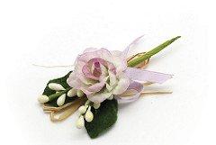 Alice's decorations bomboniere fai da te ramo con rosa e pistilli lungh. 10 cm conf. 10 pz