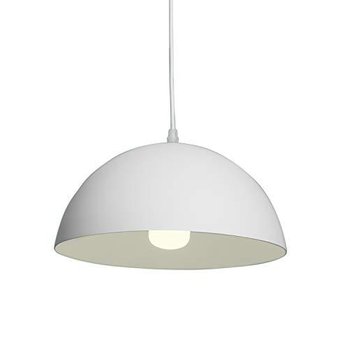 E27 Modern LED Pendelleuchte Lampenschirm Loft Halbkugelförmig Pendelleuchte Hängeleuchte Stilvollen Pendelleuchte Hängelampe Industrie Deckenlampe Φ30cm