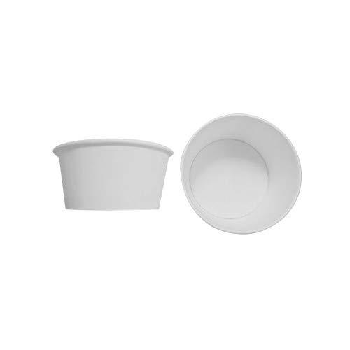 White Paper Cups (BOX GEL Stück 180schälchen weiß CC 160Media + Deckel für Eiscreme-Becher aus Papier White Cups Paper)
