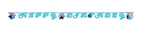 appy Birthday Banner in hellblau (Elsa Birthday Party Supplies)