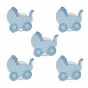 by Boy hellblau Kinderwagen Cupcakes Kuchen Topper-5Stück-Perfekt für Baby Duschen & Dekoration Ihrer Kuchen ()