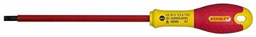 Stanley FatMax Schraubendreher Schlitz (isoliert, Parallelspitze 5,5 mm, 150 mm Länge, Chrom-Vanadium, Soft-Grip) 1-65-413