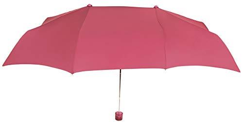 Pratico e originale ombrello vogue pieghevole per due persone, con protezione solare, antivento e finitura teflon che repellente l' acqua. llévatelo da viaggio. multicolore fucsia