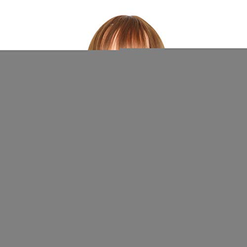 SHINAN Natürliche Bob Frisur Frauen Perücken Mit Luft Pony Kurze Synthetische Haar Braune Mode Perücke Gerade Hitzebeständigkeit Party Cosplay Anime Salon