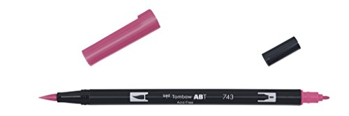 Tombow ABT-743 Fasermaler Dual Brush Pen mit zwei Spitzen, hot pink