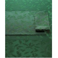 Lenox Holly Damask Tablecloth, 52 by 70-Inch, Green by Lenox Lenox Holly