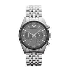 Emporio Armani Emporio Armani Sportivo Chronograph Grey Dial Stainless Steel Mens Watch AR5997