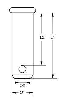 Steckbolzen 1.4401  4mm x 16mm <2St-SB-Pack> -