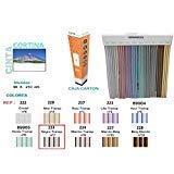 Bai Hui Pin (Cod. 223) Türvorhang für Außen, Modell Himalaya, 41Streifen, Farbe: schwarz transparent, Material: Kunststoff und Aluminium, Größe: 90x 210cm