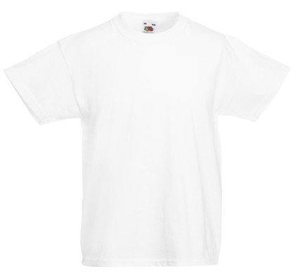 Weiße Jungen-t-shirt (Fruit of the Loom - Kids Value Weight T / White, 164 164,White)