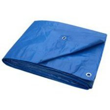 toolbasix t0810bb70Licht Pflicht Plane, 3m wahr X Geschenkpapierrolle 244cm, Blau