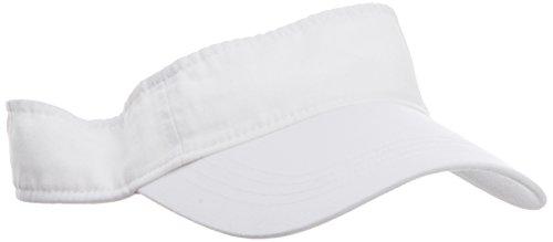 anvil Herren Low Profile Twill Visor / 158, Gr. one size, Weiß (WHT-White) (Basic Cap)