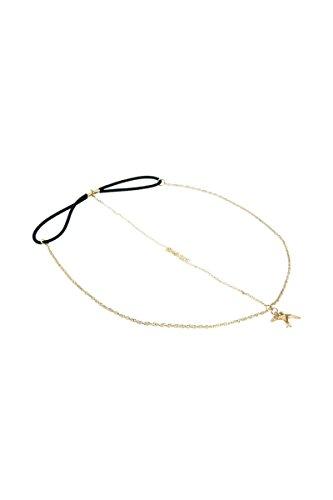 TOOGOO(R) 2 pcs. Femmes Hirondelle Chaine en Metal Pendentif bijoux de cheveux bandeau.
