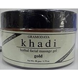 Khadi Facial Gold Massage Gel,50g(pack of 2)