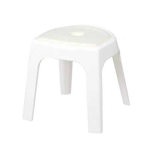 Belüftete Tür-sicherheit (NYDZDM Bad Bath Hocker Old Man Slip Chair Erwachsenen Duschhocker (Color : White))