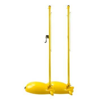 NBRTT Tragbares Badminton-Netz-Set, höhenverstellbar im Freien mit Standsäulenblock Mobiles, einfaches Klappregal für Wettkämpfe im Innen- oder Außenbereich, Strand, Auffahrt -