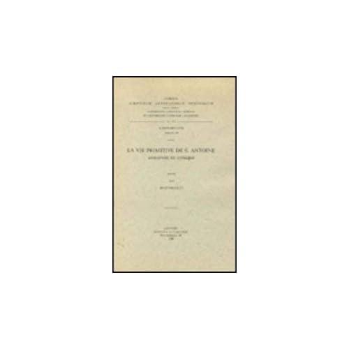 La Vie Primitive De S. Antoine. Syr. 183.