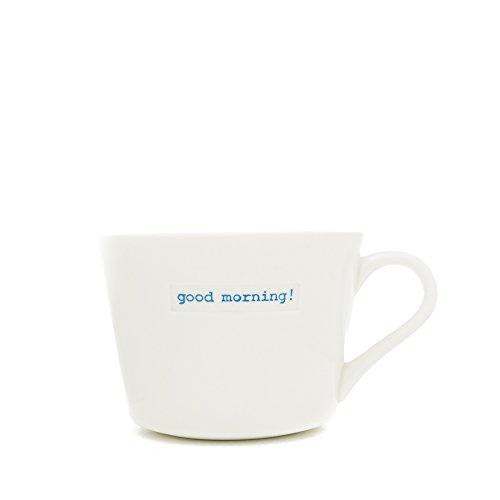 Keith Brymer Jones Mug Porcelaine Good Morning Super Mini Blanc