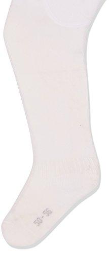 Camano Unisex Baby 3105 Strumpfhose, Weiß (White 0001), 19-22 (Herstellergröße: 50/56)