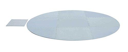Bestway Suelo Protector para Lay-Z-Spa en Pe Esponjoso, Gris, 211x211x3 cm, 58461