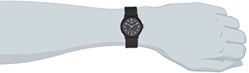 Casio Herren Armbanduhr Collection Analog Quarz Schwarz Resin Mq-24-1Bllgf -