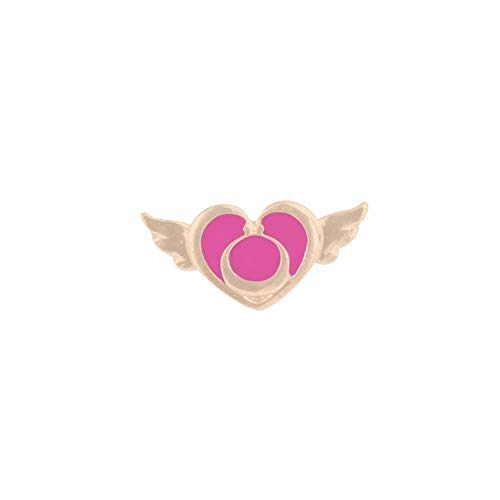 Brosche, Fashion Brooch Pins Girl Cosmetics Lipstick Bow Love Wings Purple Stone Enamel Pins Skirt Accessories Women Gifts for Daughter Heart