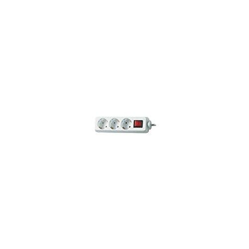 BAT 1550620413 Steckdosenleiste mit Schalter (3-fach, 1,4m) weiß