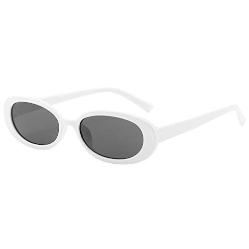 WQIANGHZI Unisex Rund Katzenaugen Sonnenbrille Retro Vintage Brille Kleine Rahmen Brillen Shades Verspiegelt Shades Objektiv Plastik Neuheit Lässige Schutzbrillen Original Brille