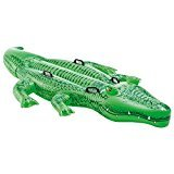 Image of 2X Intex Childrens Large Inflatable Ride On Alligator With Four Grab Handles #58562