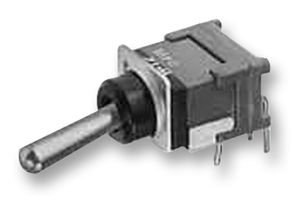 TOGGLE SWITCH, SPDT, R/A, ON-MOM ESD B15AH By NKK SWITCHES -