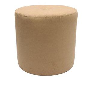 Möbelbär Sitzhocker - Zylinder bezogen mit hochwertigem Alcantara Imitat Wildleder in 9 (2061 - Camel)