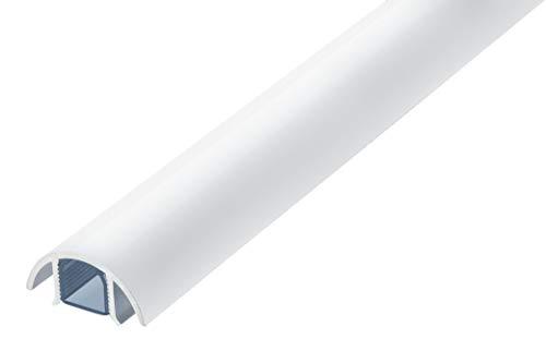 Mini Design Aluminium Kabelkanal für z.B. Lautsprecher - 30mm breit von ALUNOV (Länge: 30cm, Weiss Matt)