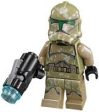 Star Wars Lego Loose Minifigure Kashyyyk Clone Trooper with Firing Blaster (Trooper Kashyyyk Clone)