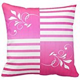 White Bright Pink Stripes With White Accents Pillow Case 18