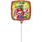 Bros Mini Folienballon Folien Ballon 23 cm *NEU*OVP* ()