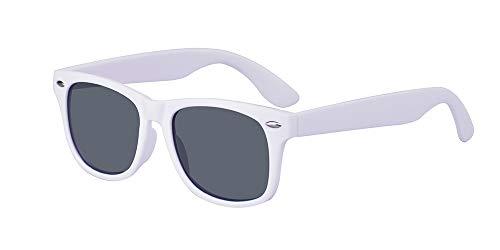 ALWAYSUV Kinder Bequem Polarisierte Sonnenbrillen für Jungen und Mädchen Alter 3-10 Brillenfassung Weiß