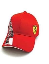 Ferrari - Casquette visière - Homme Rouge rouge réglable 511bd82a1721