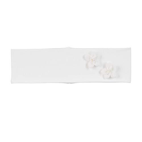 Sterntaler Stirnband für Mädchen mit edlen Blümchen, Alter: 5-6 Monate, Größe: 43, Naturfarben (Ecru)