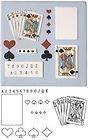 Patchwork Cutters Schablonenset für Tortendeko, Spielkarten-Motiv