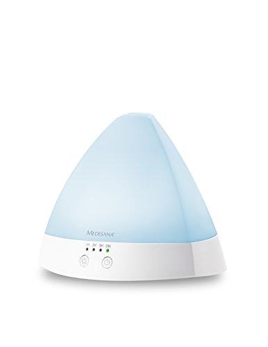 Medisana AD 630 Diffuseur d'arômes pour huiles parfumées avec lampe à DEL wellness en 6 couleurs, minuterie, technologie à ultrasons, 80 ml - 60084
