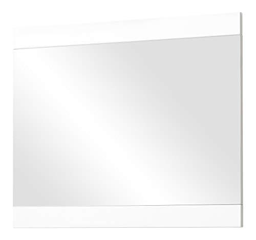 Germania 3461-84 Spiegel mit Applikation GW-Oslo in Weiß, 96 x 76 x 4 cm (BxHxT)