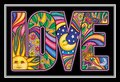 2 x Dan Morris - Classic Love Word Cartolina Postale Postcards - 6'' x 4'' Inches