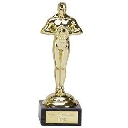 5 x Gold achievement,Oscar Style,Party Trophy,Award 178mm (7
