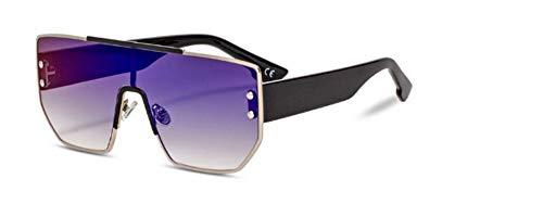 ZJMIYJ Sonnenbrillen Italien Sonnenbrille Frauen flach Top Big Frame Square Sonnenbrille Männer Schirm blau