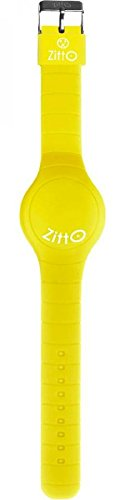 Orologio ZITTO a led con cinturino in silicone Crazy Yellow Giallo Grande